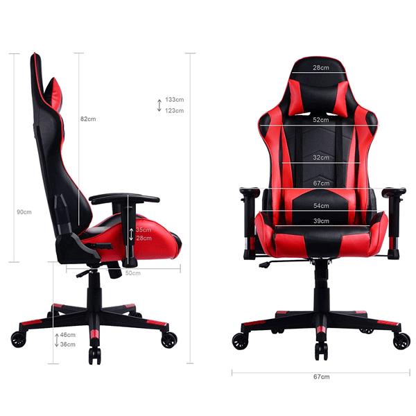 Medidas de la silla gaming Prime Selection