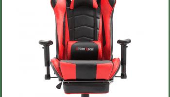 LA silla gamer roja storm racer de cara